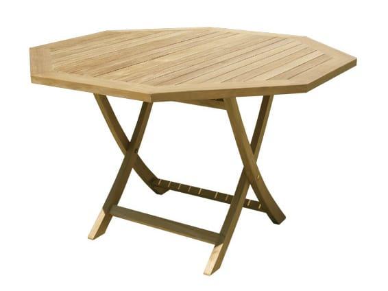Tavolo da giardino pieghevole in legno jimbaran collezione - Tavolo in legno pieghevole ...