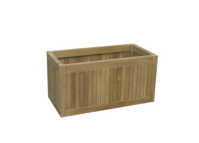 blumenkasten aus holz geo kollektion teak by il giardino. Black Bedroom Furniture Sets. Home Design Ideas