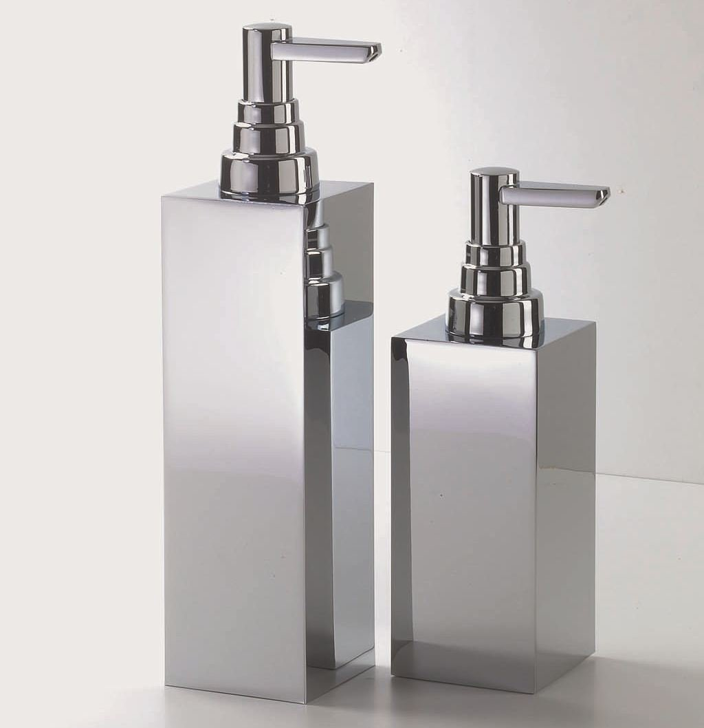 distributeur de savon liquide en metal chrom dw 360 by decor walther. Black Bedroom Furniture Sets. Home Design Ideas