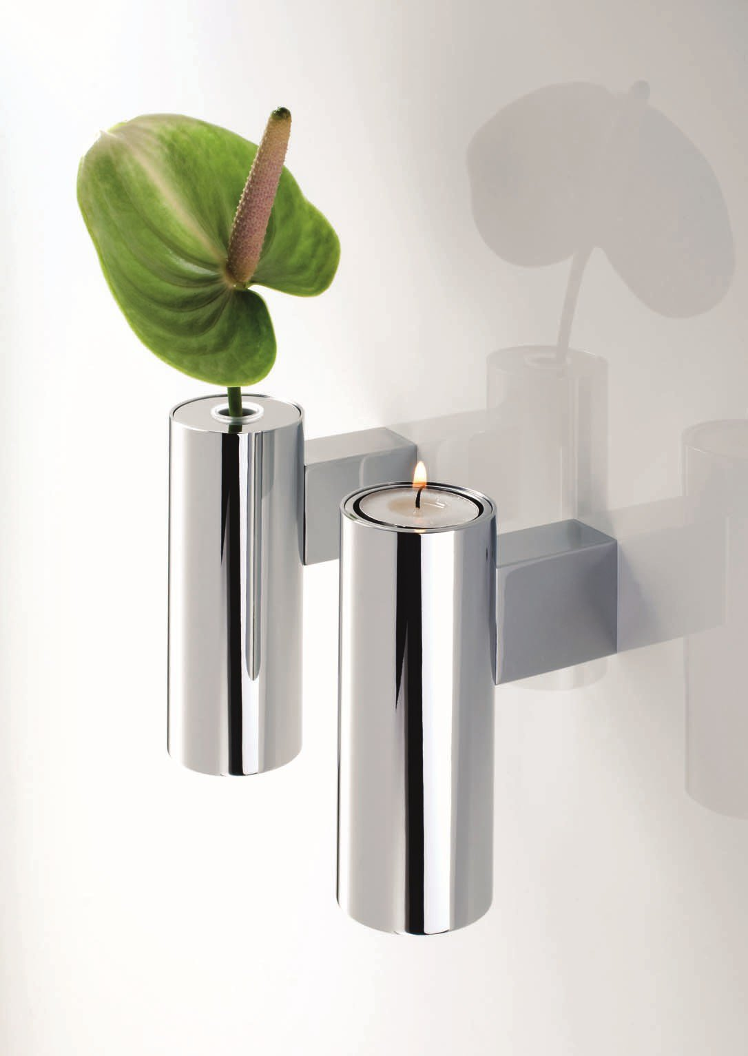 chrome plated candle holder tb vkh by decor walther -
