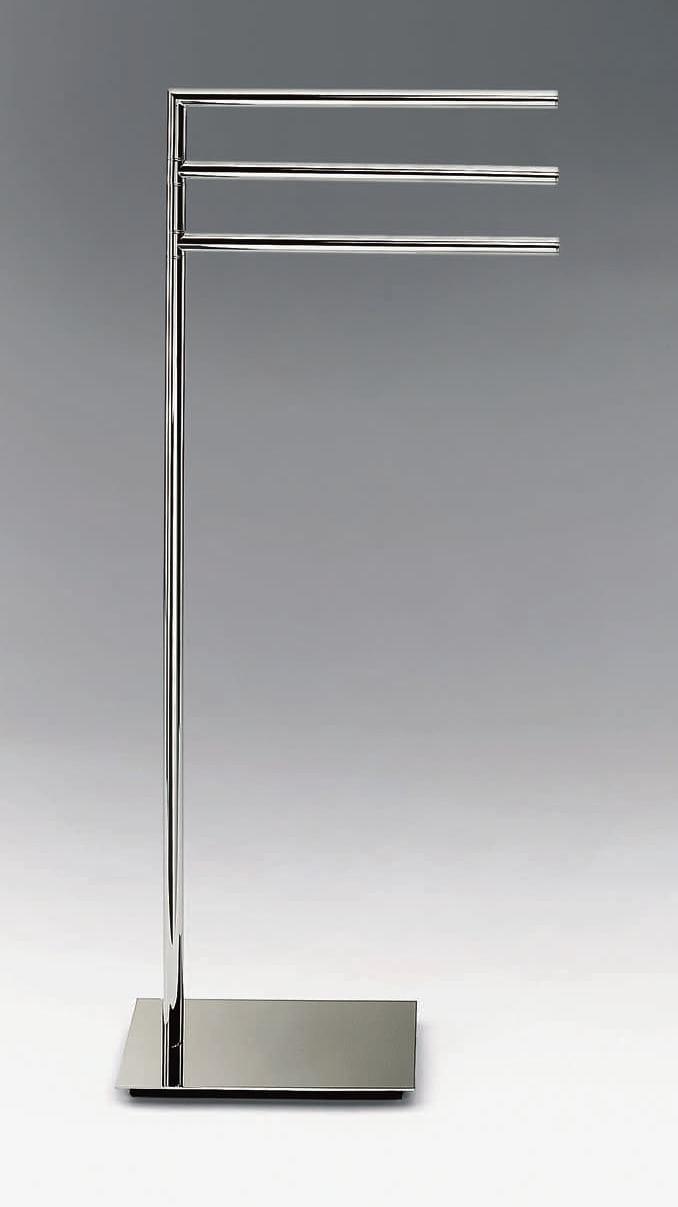 Porte serviettes sur pied en metal chrom straight 3 for Porte patio 8 pieds