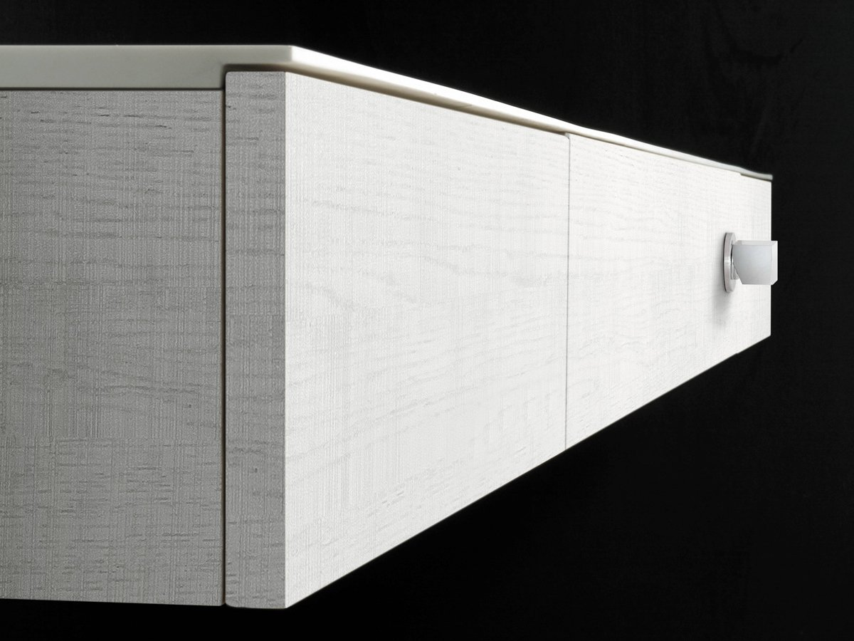 Móvel lavatório suspenso de Corian® LINEA by Moab 80 design  #59513E 1200x900 Bancada Banheiro Corian