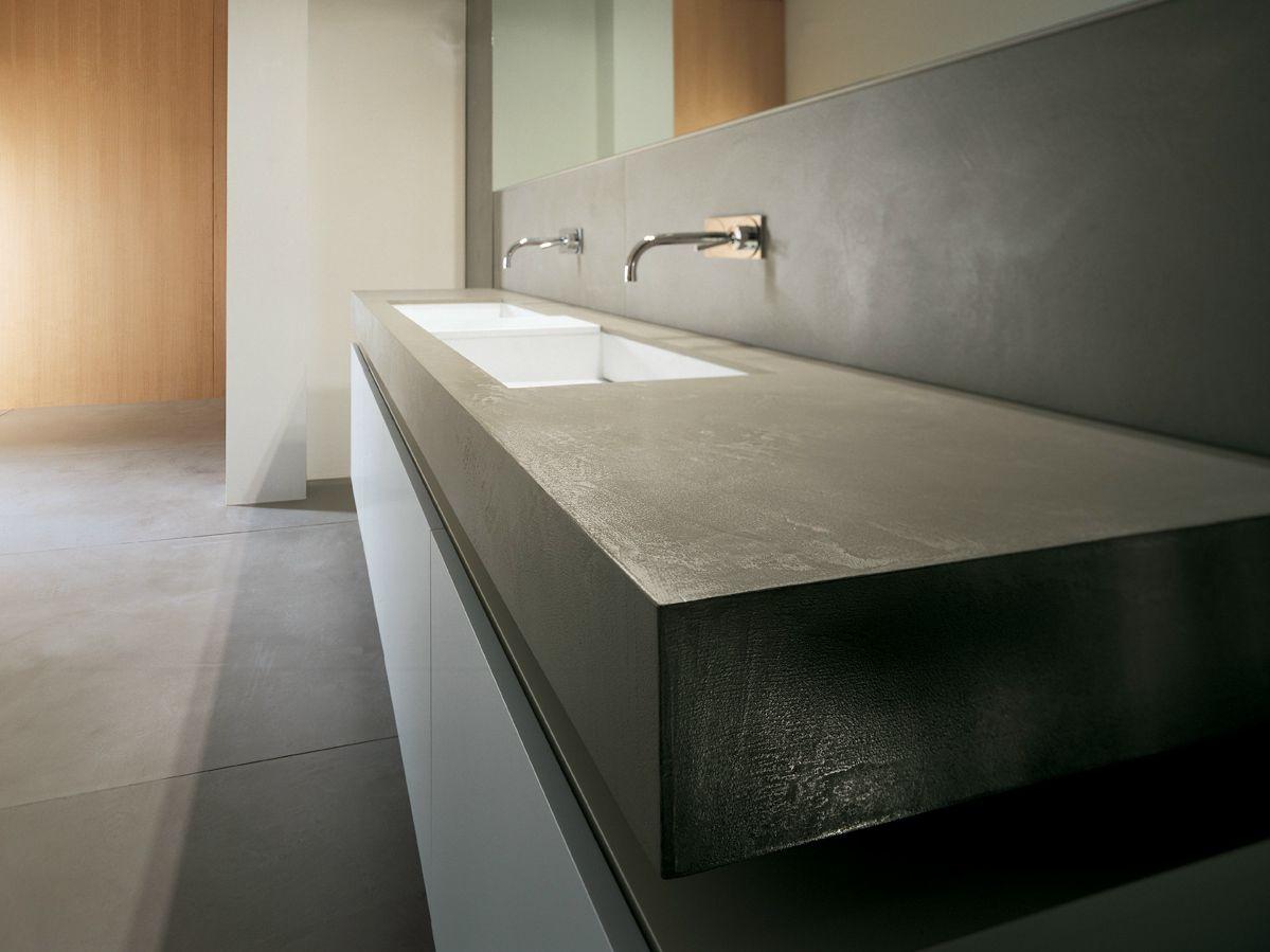 Prefinito cemento piano lavabo by moab 80 - Piano lavandino bagno ...
