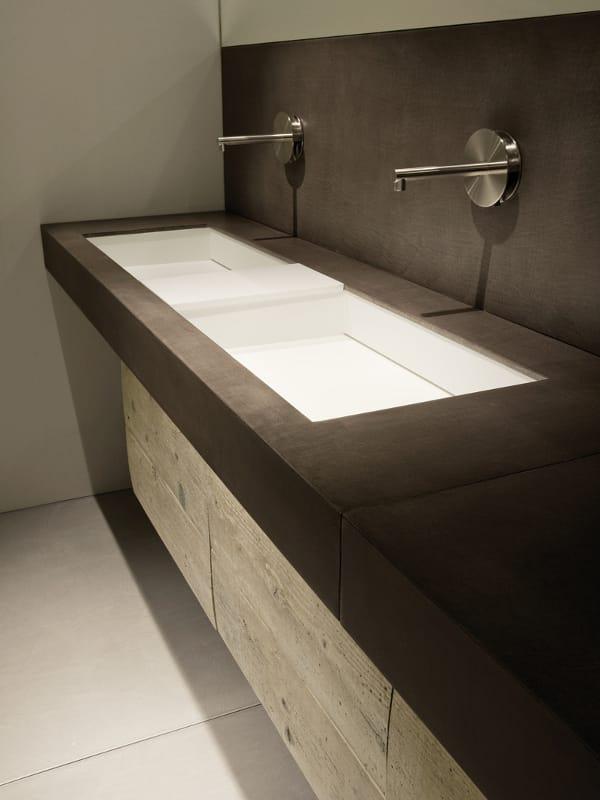 Prefinito cemento piano lavabo by moab 80 - Piani lavabo bagno ...