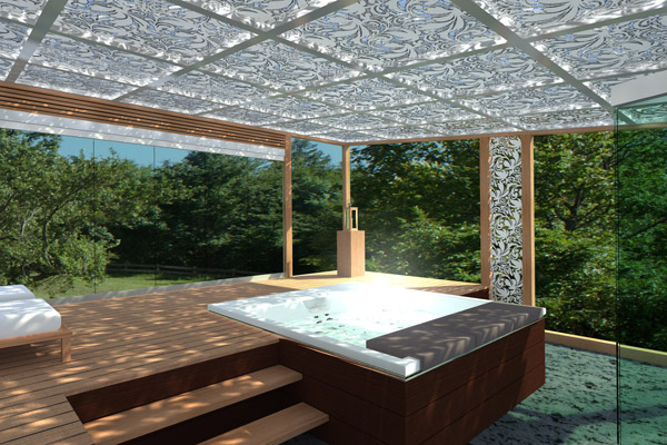 pergola en acier spa by cagis. Black Bedroom Furniture Sets. Home Design Ideas