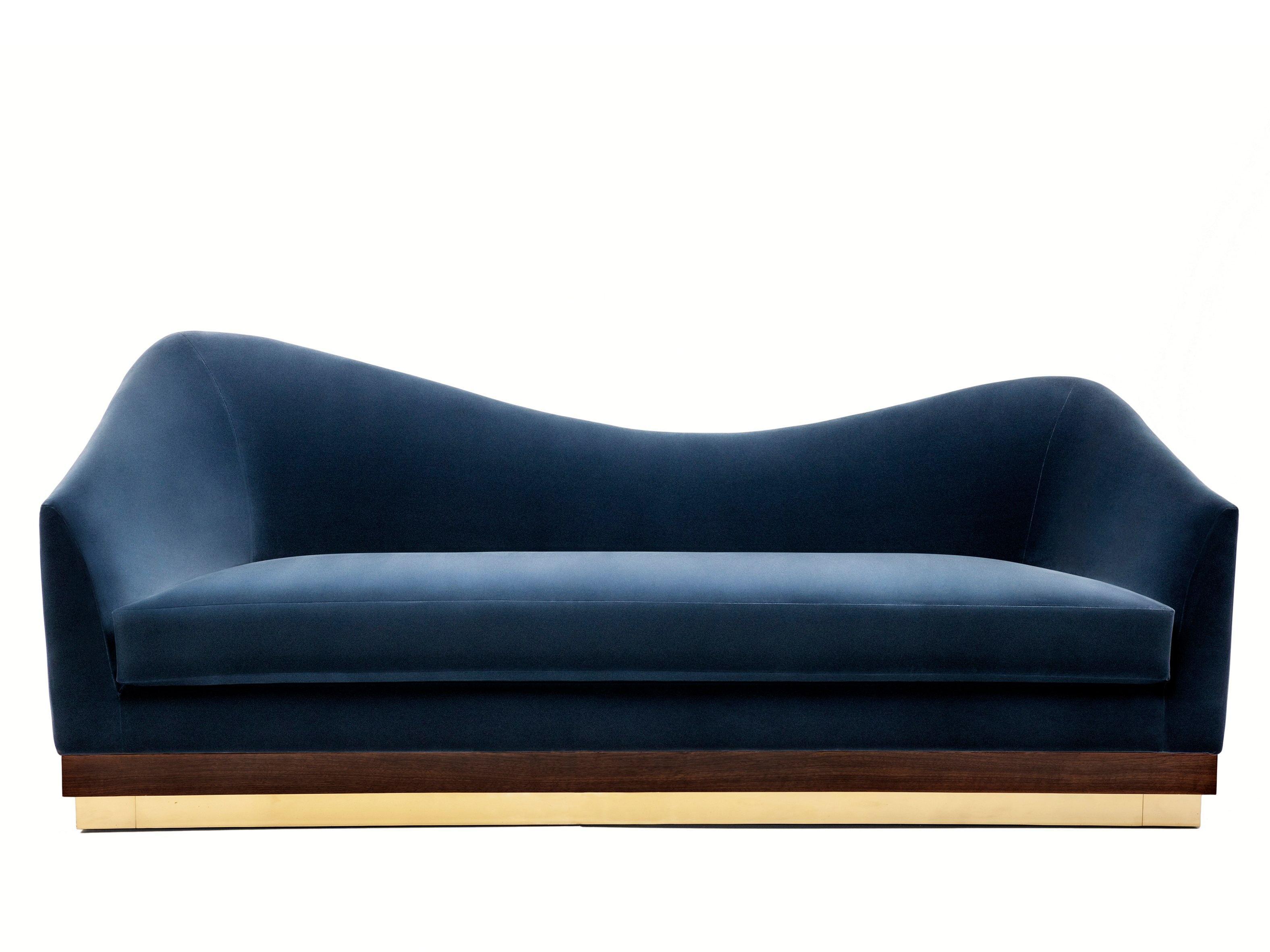 Velvet Sofa Hughes By Munna