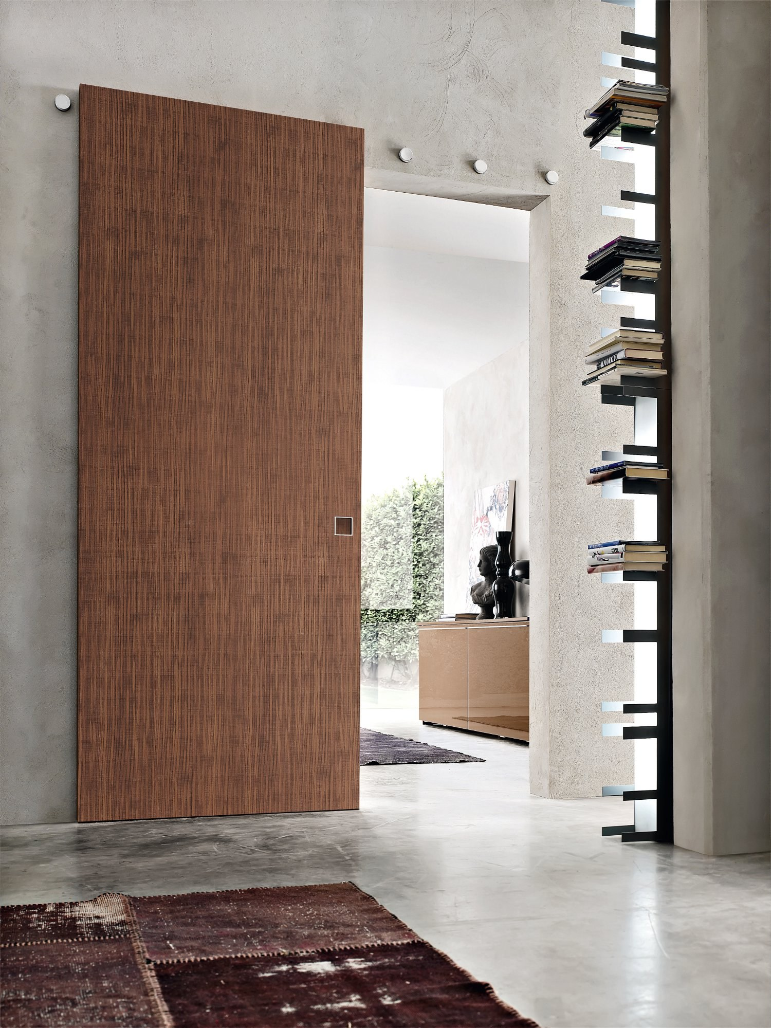 puerta corrediza de madera b move multy by bluinterni