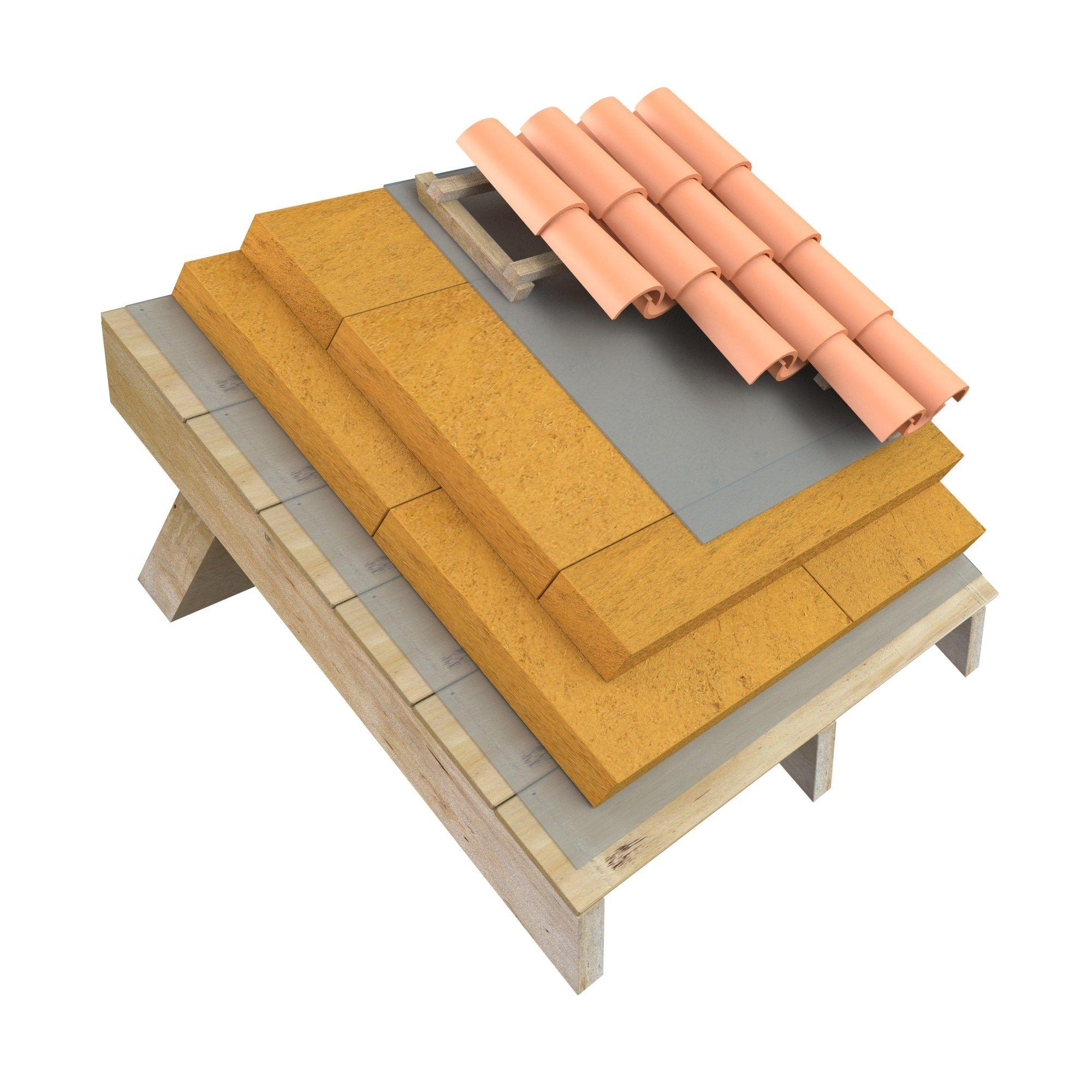 Panel aislante t rmico de fibra de madera sylvactis 110 sd colecci n sylvactis by actis - Madera aislante termico ...