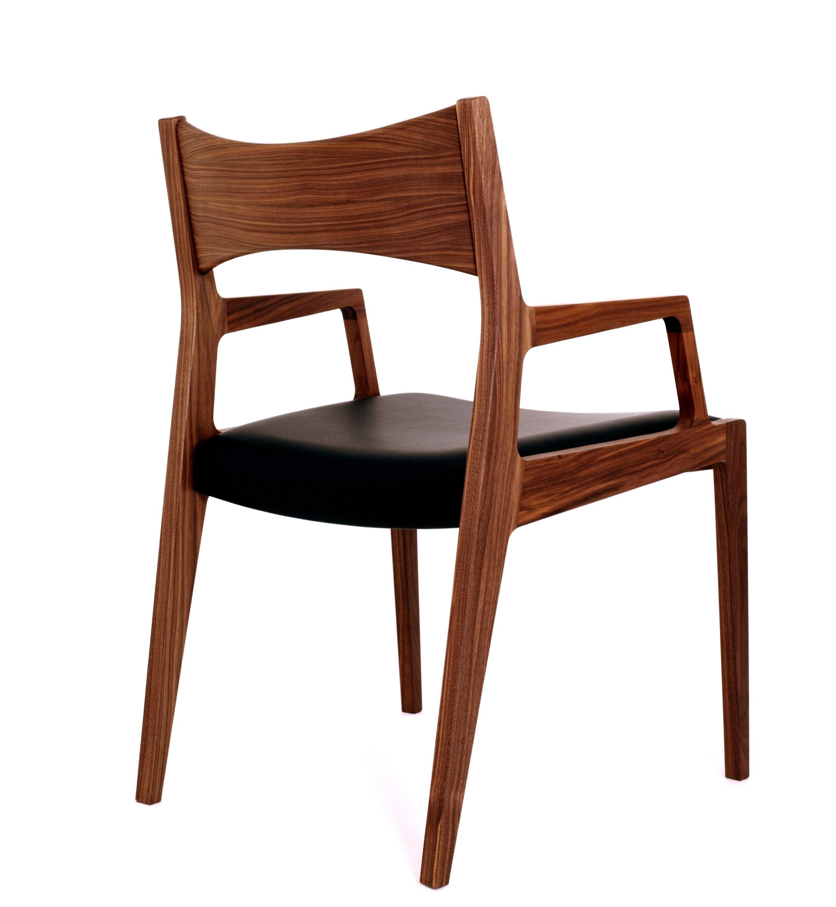 Baker sedia con braccioli by dare studio design sean dare - Sedia imbottita con braccioli ...