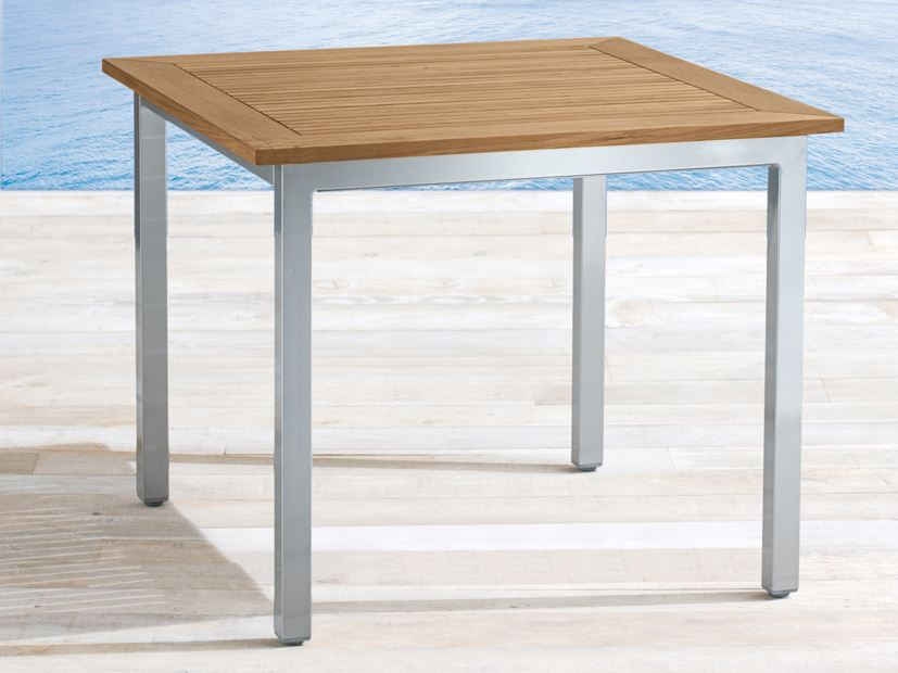 Table de jardin carr e en teck collection samba by roberti - Table teck carree ...