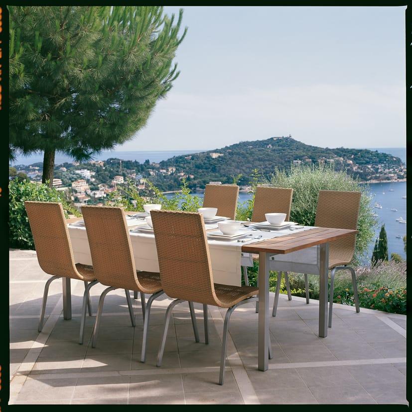 Samba tavolo da giardino rettangolare by roberti rattan for Giardino rettangolare