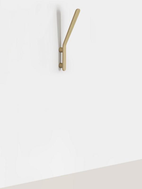 Wall mounted wood veneer coat rack SOLO by MOX design
