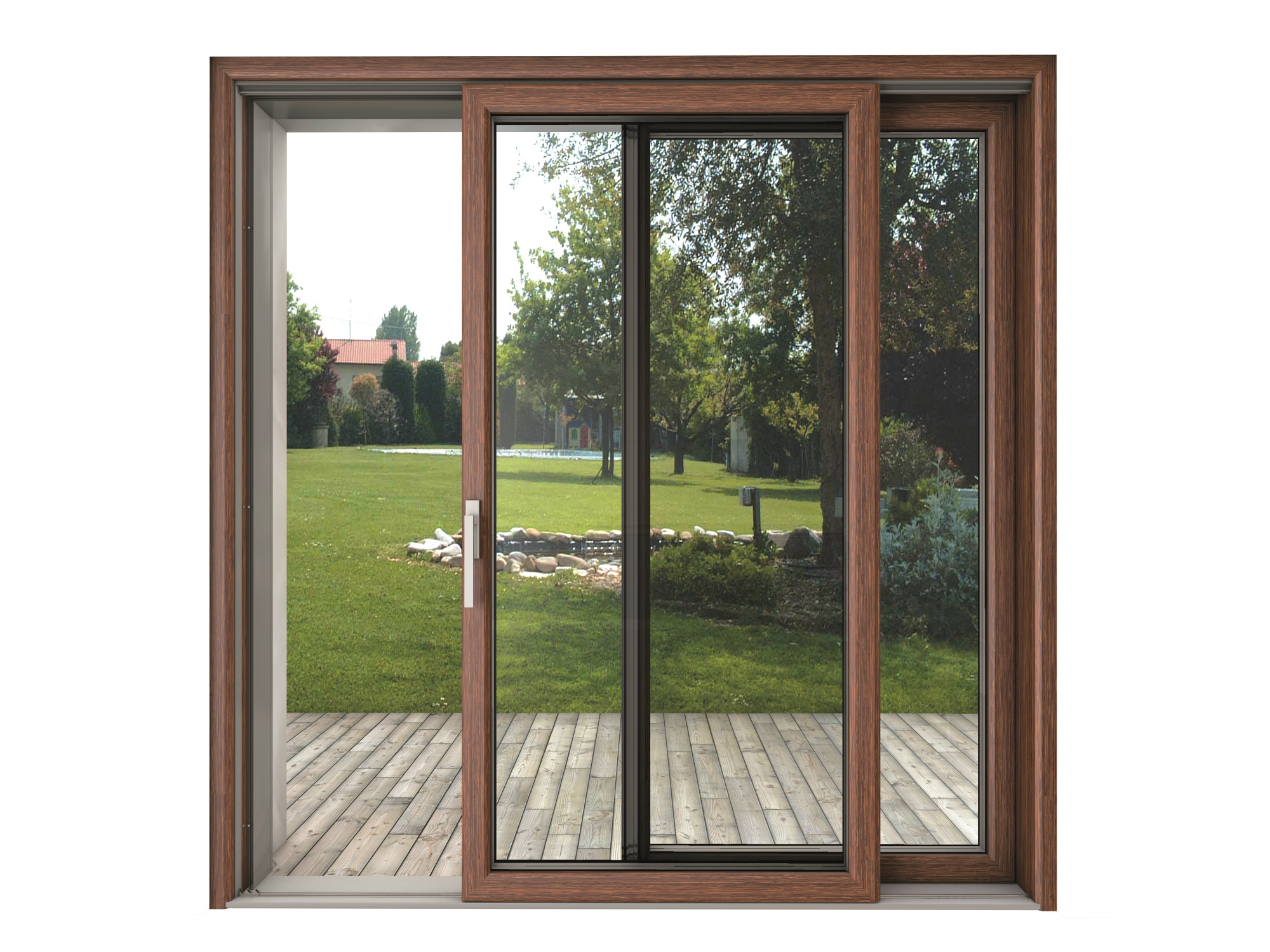 blindoklima wood sliding window by sl di sabatino liberato