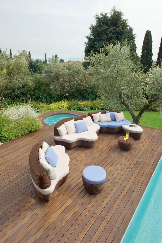 Aluminium Garden Sofa Les Iles Collection By Roberti Rattan