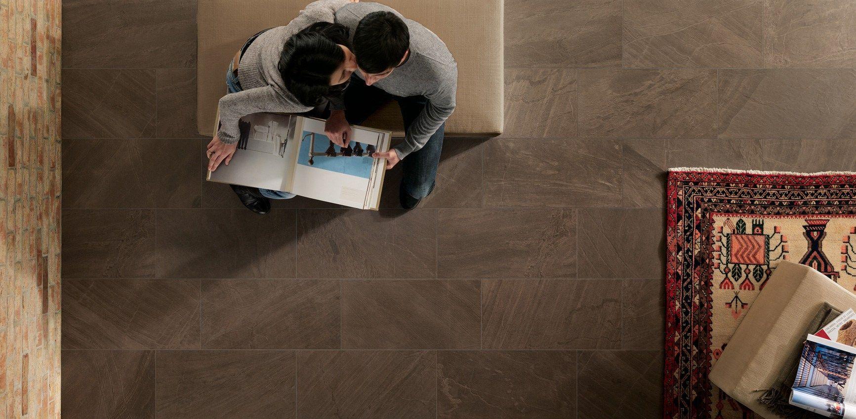 Pavimento/rivestimento in gres porcellanato effetto pietra NORDICA ...