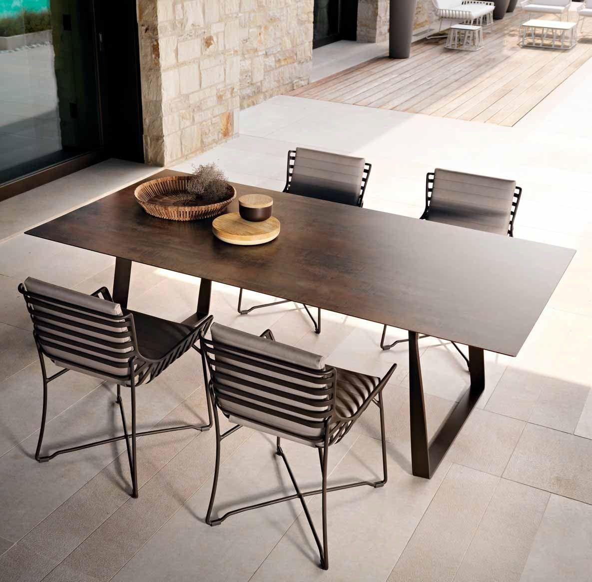 Tavolo da giardino rettangolare in hpl collezione hamptons - Tavolo da giardino rattan ...
