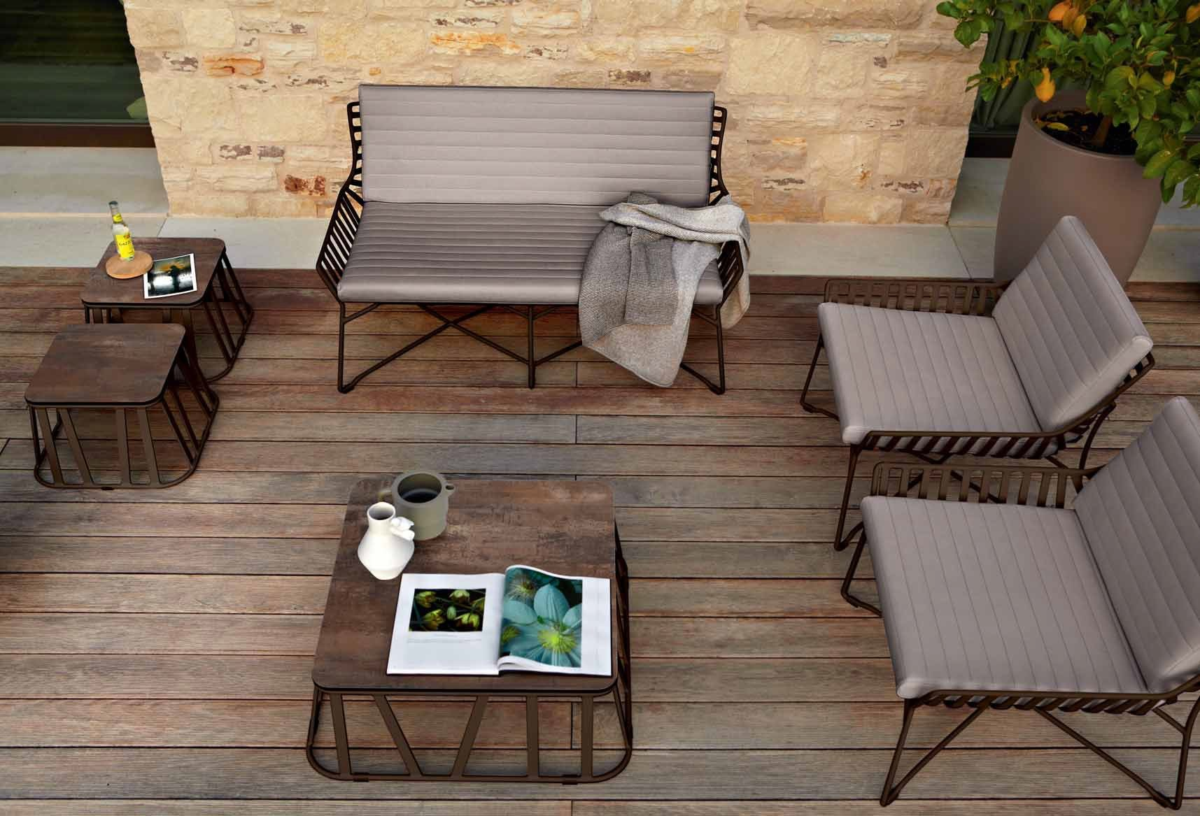 Roberti Rattan HAMPTONS GRAPHICS  2 seater garden sofa