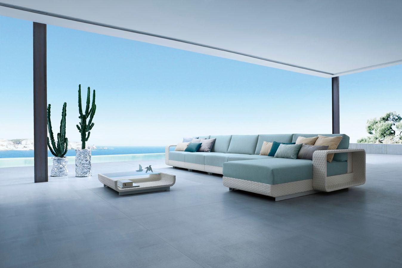 Hamptons Sectional Garden Sofa By Roberti Rattan Design