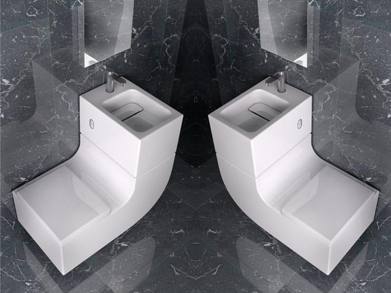 Washbasin toilet w w by roca sanitario design buratti for Rocas design