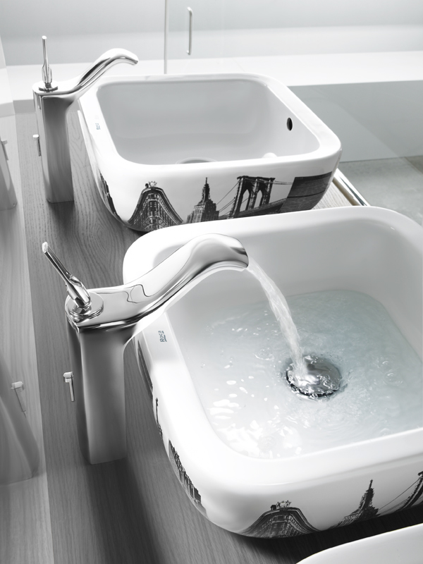 countertop washbasin urban by roca sanitario - Roca Wash Basin