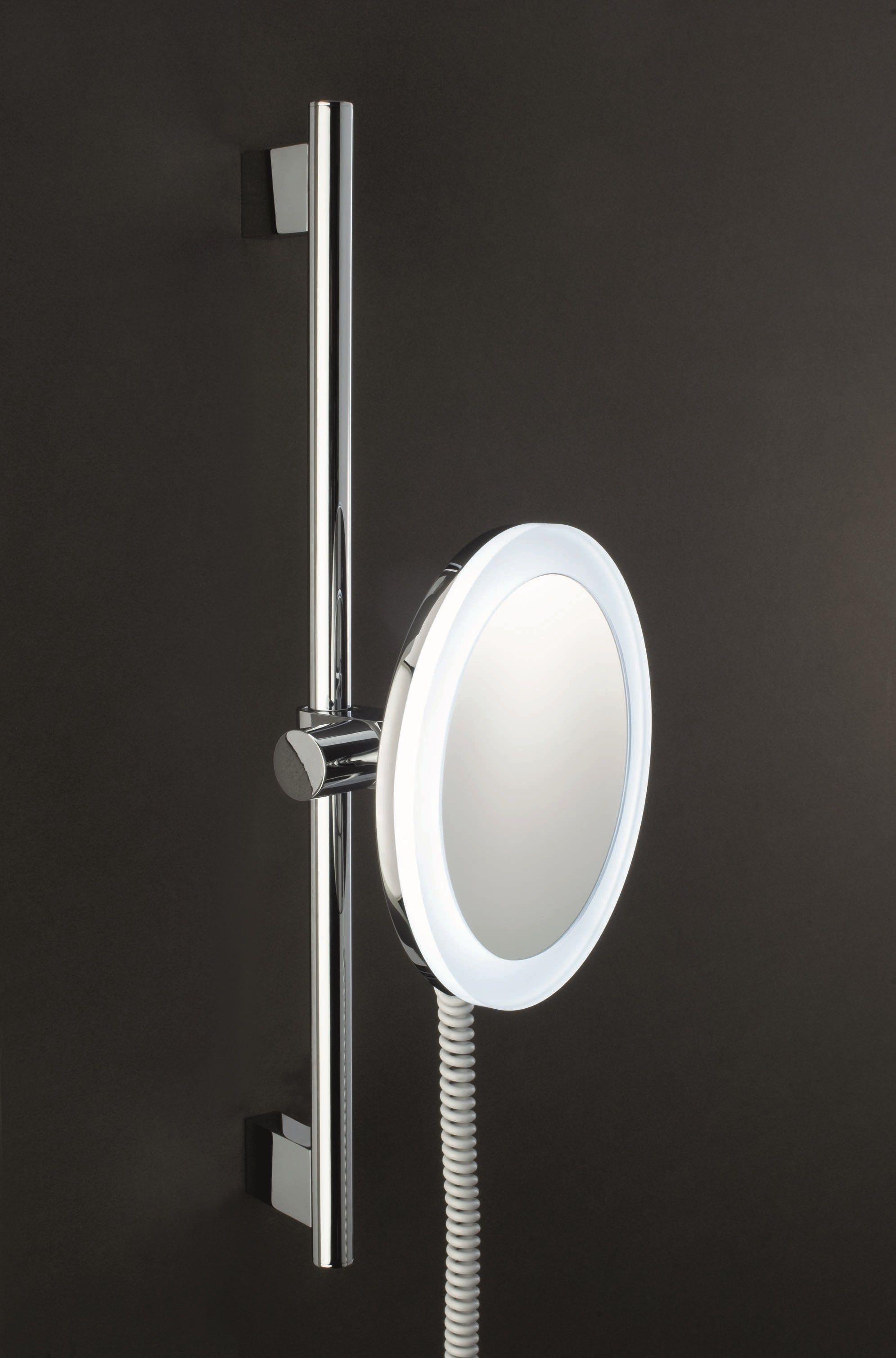 Miroir grossissant avec clairage int gr pour salle de for Miroir avec eclairage