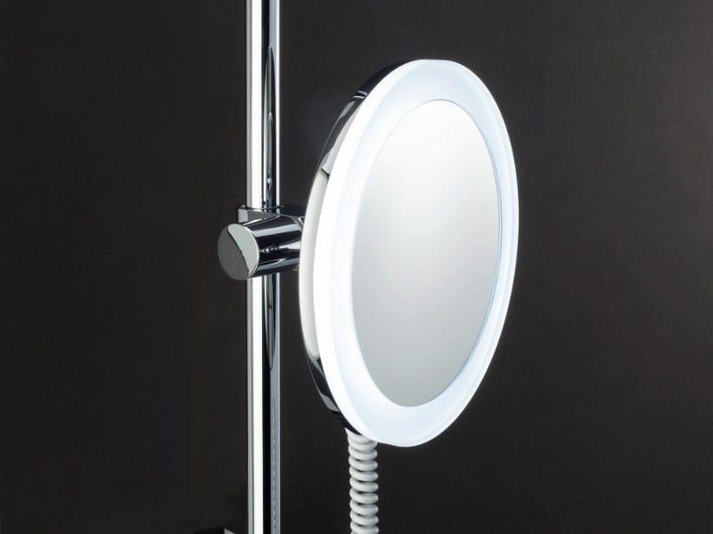 Miroir grossissant avec clairage int gr pour salle de bain bs 62 by decor walther - Miroir salle de bain eclairage integre ...