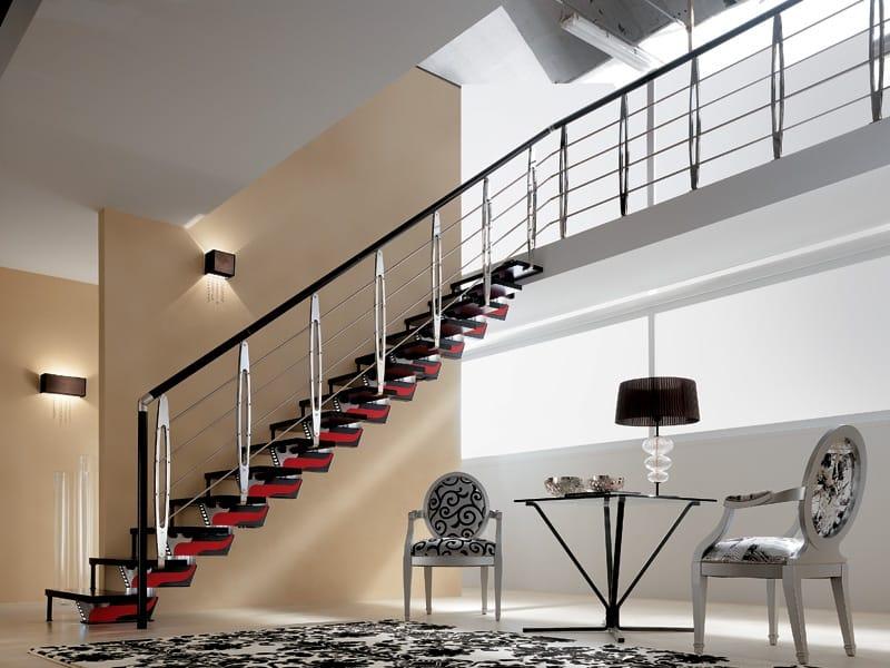 Escalier ouvert limon central knock design by rintal - Architectuur escalier ...