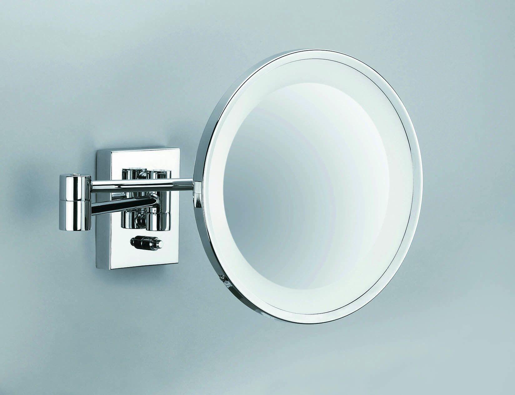 Accessori Bagno Decor Walther : Specchio ingranditore a parete con illuminazione integrata