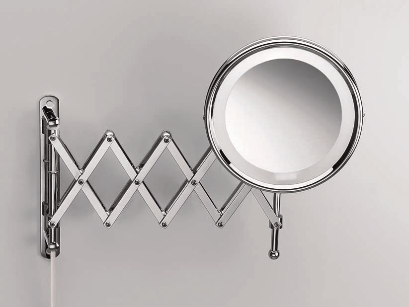 Wall Mounted Shaving Mirror With Integrated Lighting Spt