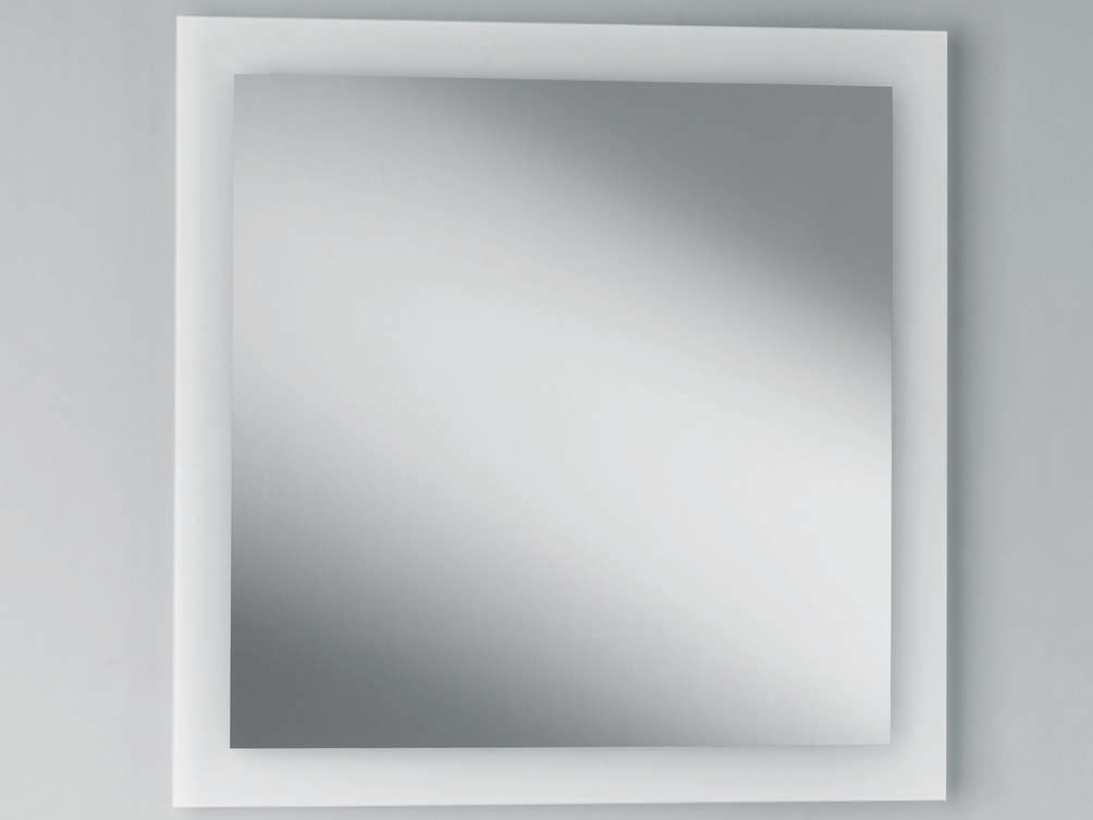 square wall mounted bathroom mirror space 56060 by decor