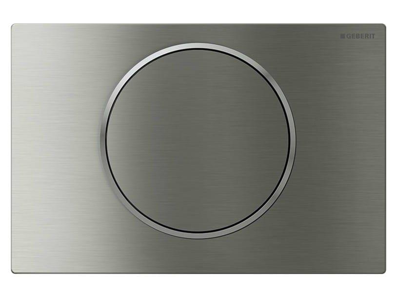 Placca di comando per wc in acciaio inox Sigma10 by Geberit Italia