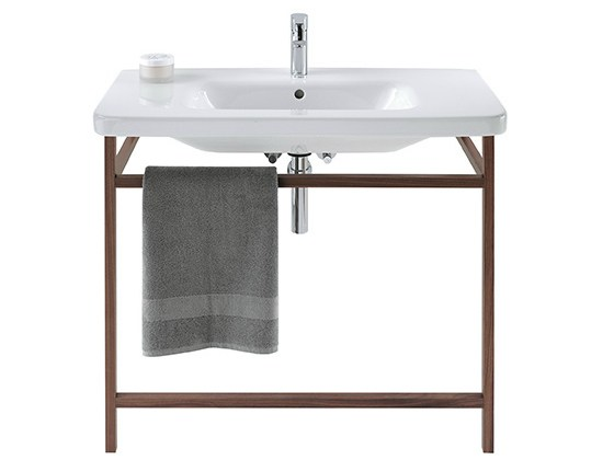 Where to buy bathroom sinks - Durastyle Walnut Console Sink By Duravit Design Matteo