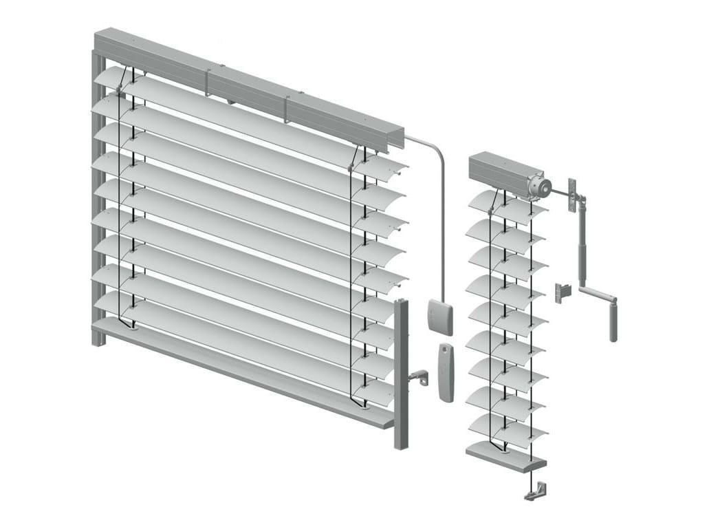 Store v nitien motoris en aluminium ar 80 by hella italia - Store exterieur motorise ...
