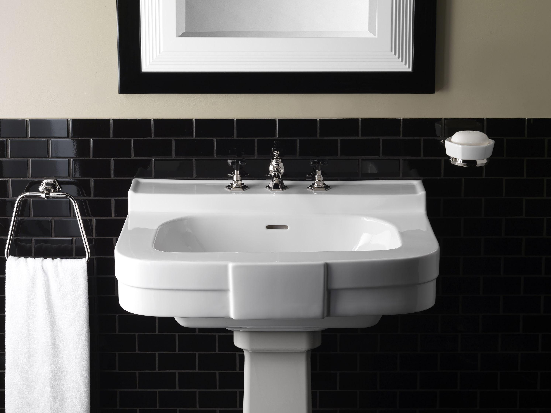 lavabo en c ramique sur pied bogart by devon devon. Black Bedroom Furniture Sets. Home Design Ideas