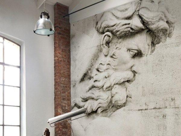 Wallpaper desus by wall dec design christian benini for Wallpaper carta da parati