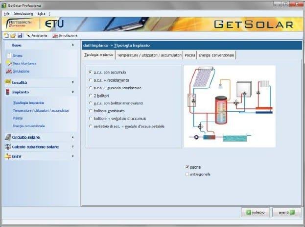 Calcolo impianto solare termico fotovoltaico getsolar for Calcolo fabbisogno termico