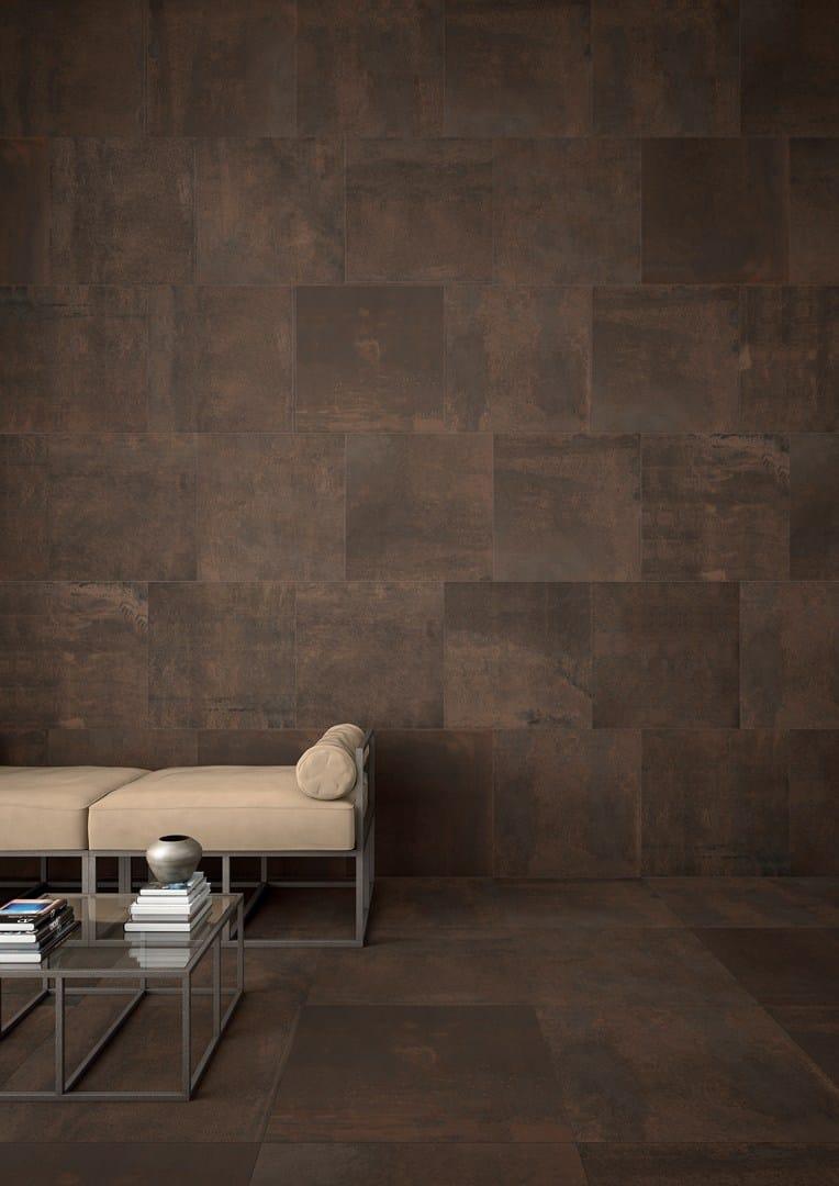 Rev tement de sol mur cologique effet cuir edge brown by Revetement mural cuir