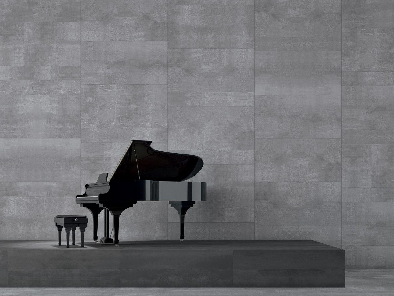 Rev tement de sol mur cologique effet b ton edge silver - Revetement mural beton ...