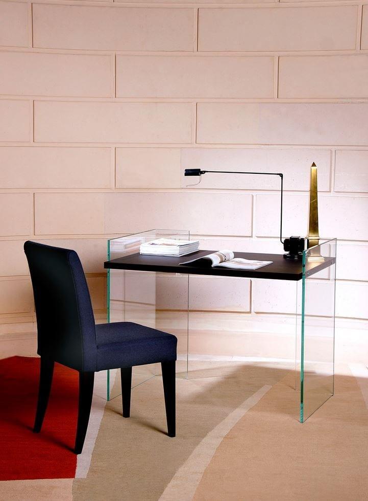bureau en verre tremp scribe zen 8 by adentro design adentro studio. Black Bedroom Furniture Sets. Home Design Ideas
