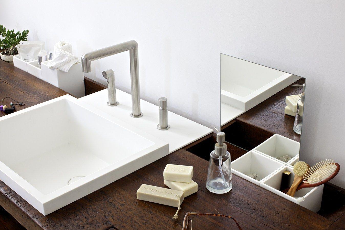 Waschtischunterschrank aus holz taul by rexa design design for Design waschtischunterschrank