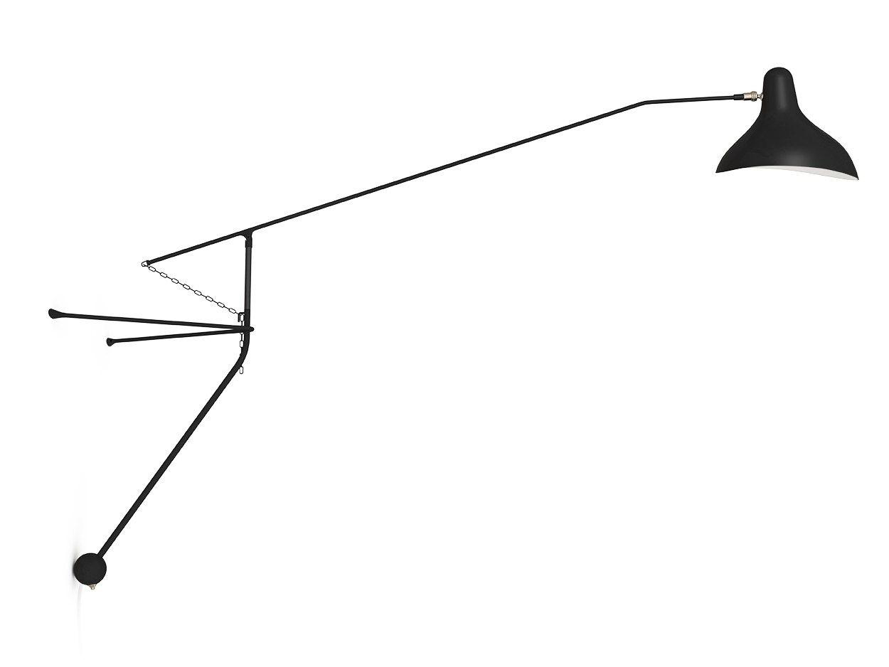 Lampada da parete con braccio flessibile bs2 by dcw for Lampadari con filo lungo