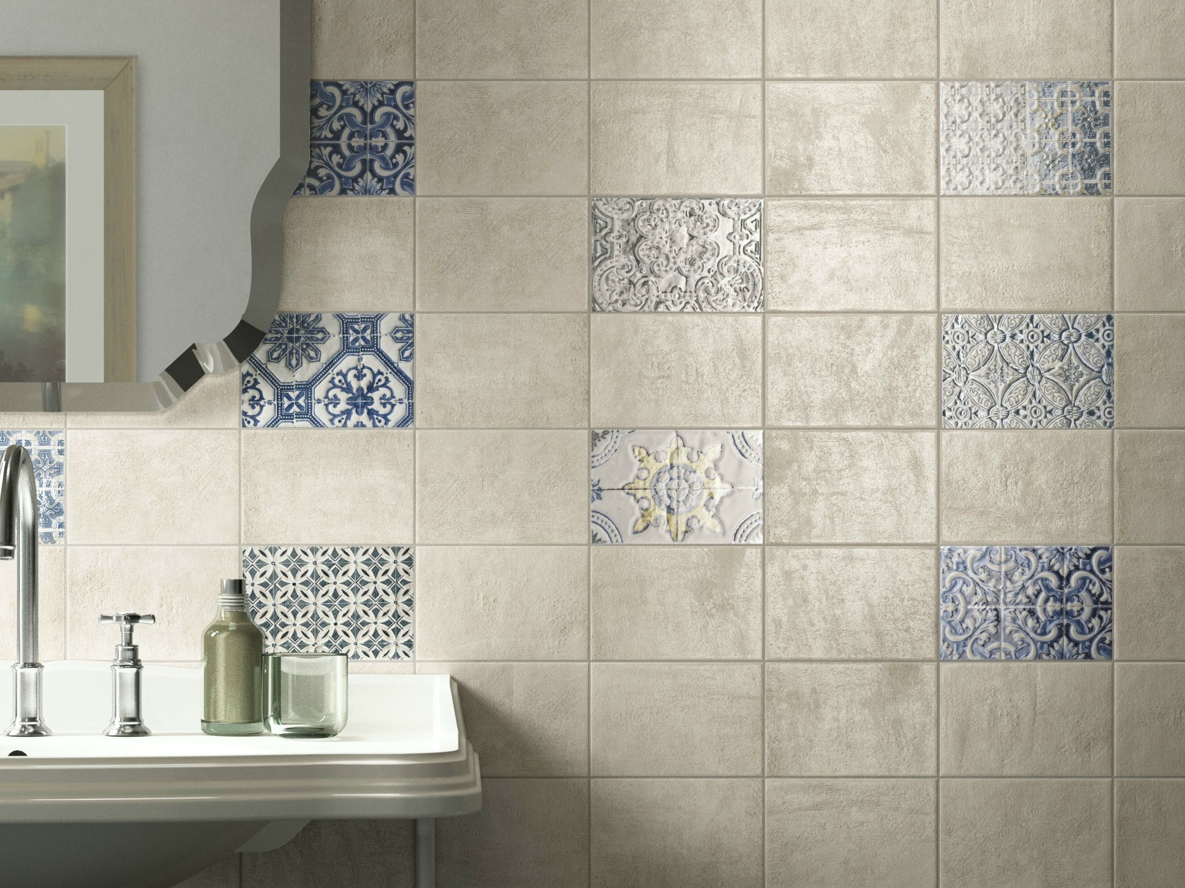 Double fired ceramic wall tiles via veneto by cooperativa Fired tiles