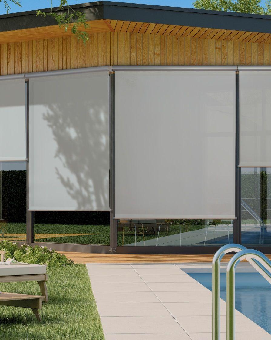 Cortina para exterior lonas y cubiertas cortinas de - Cortinas para porche exterior ...