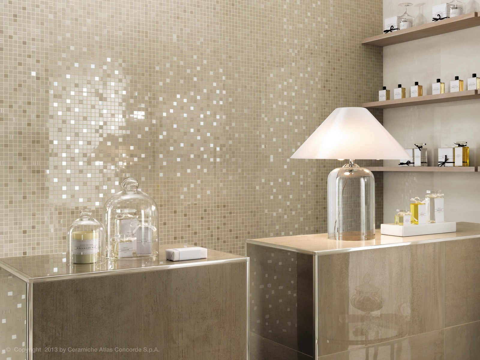 Mosa que en c ramique p te blanche mark wall design for Atlas salle de bain