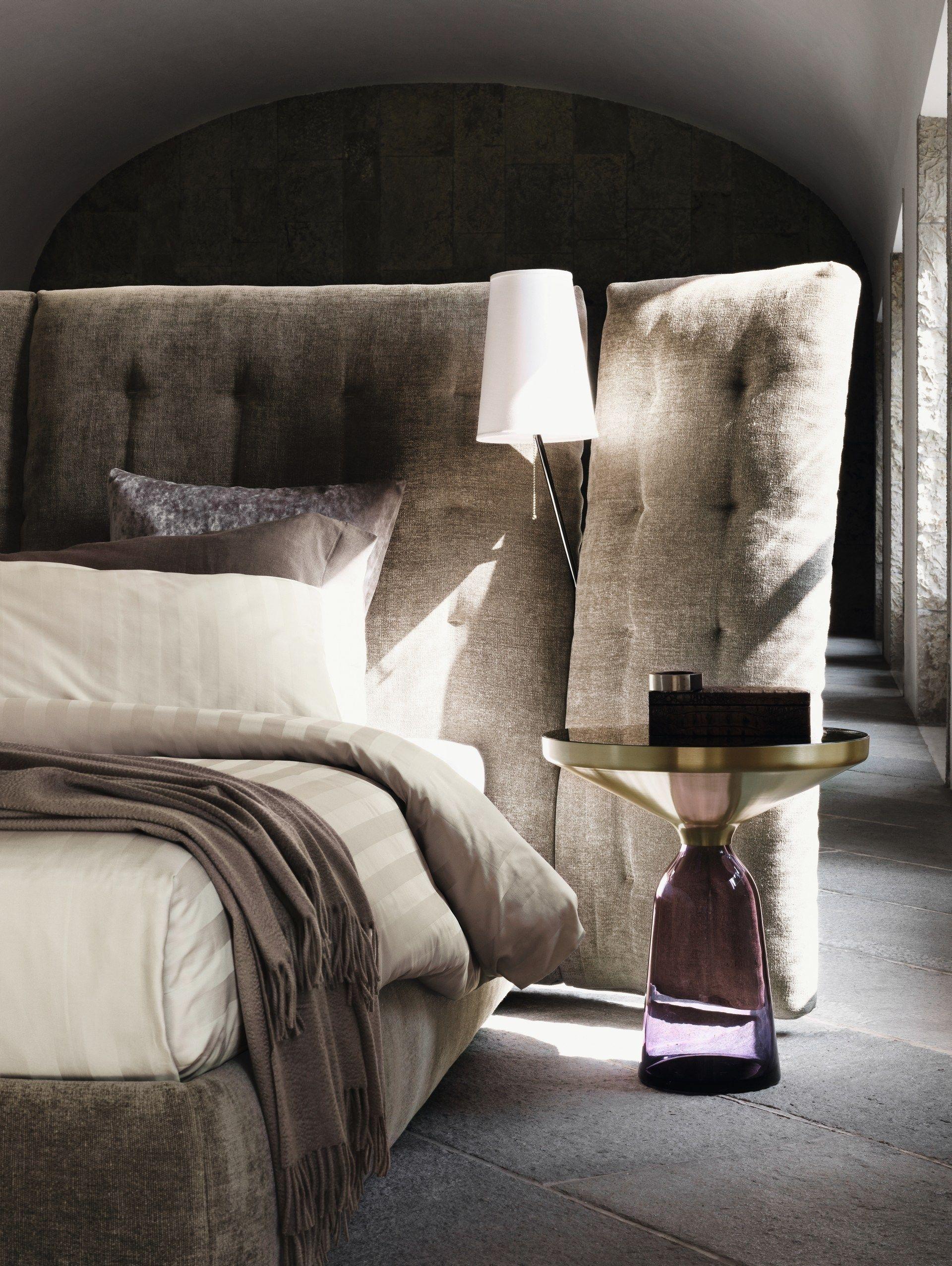 Bett mit hohem Kopfteil ANGLE PARAVENTO by Flou