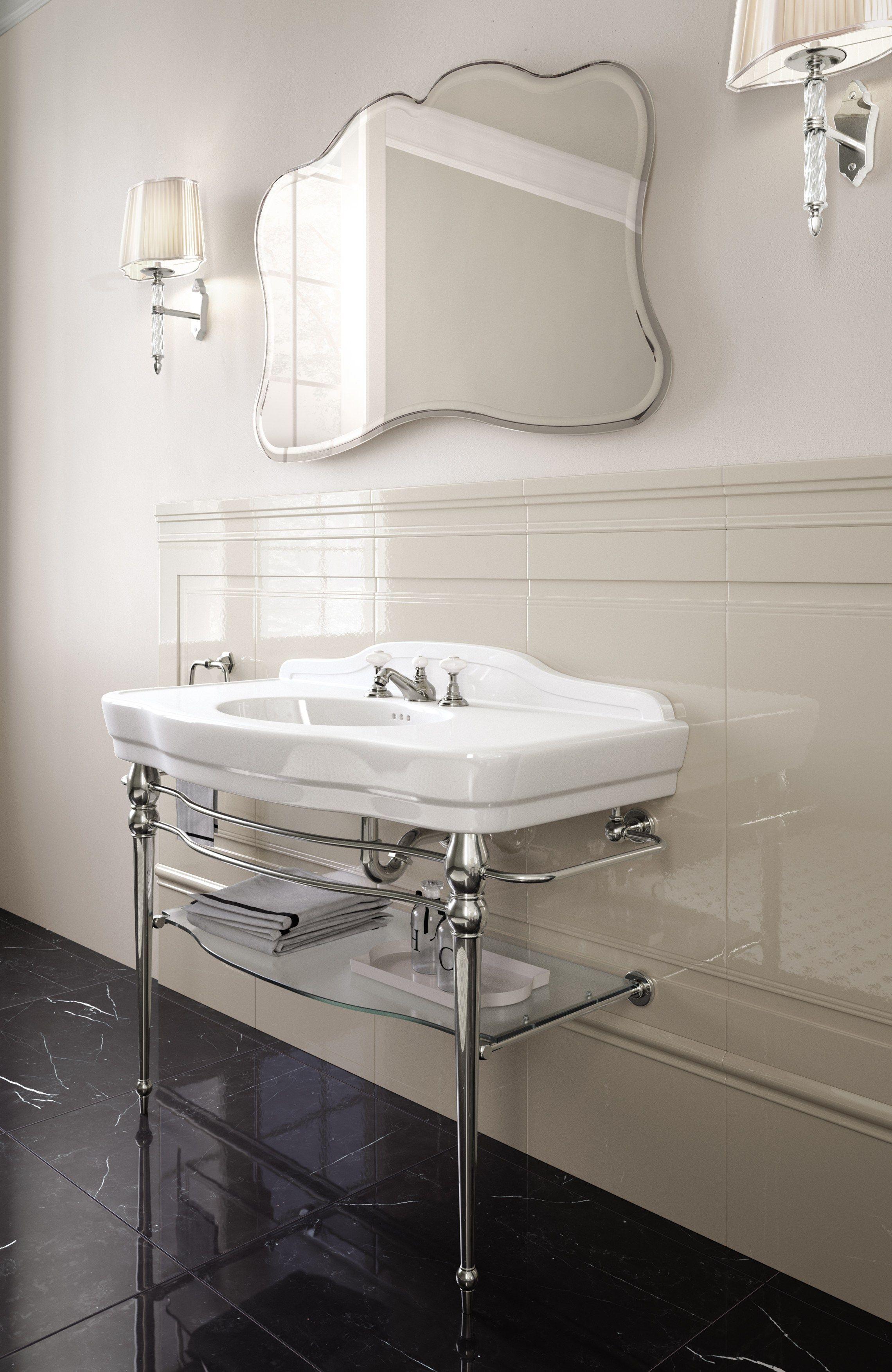 lavabo console avec porte serviettes melody by devon devon. Black Bedroom Furniture Sets. Home Design Ideas