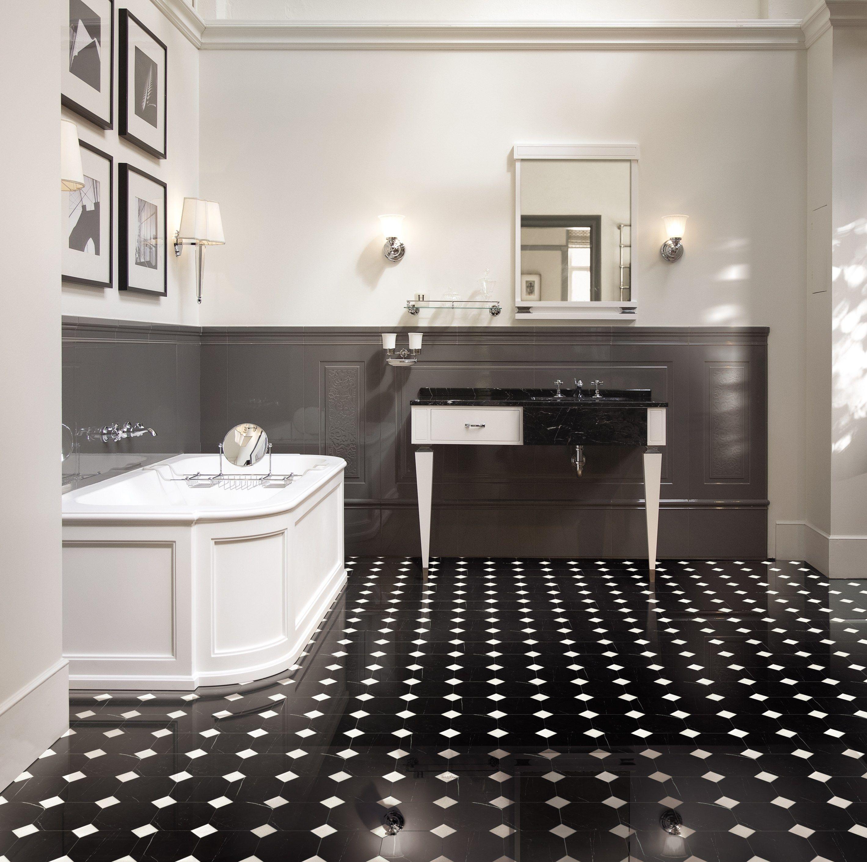 Marble flooring lite marble tiles by devon devon for Pavimento marmo bianco e nero