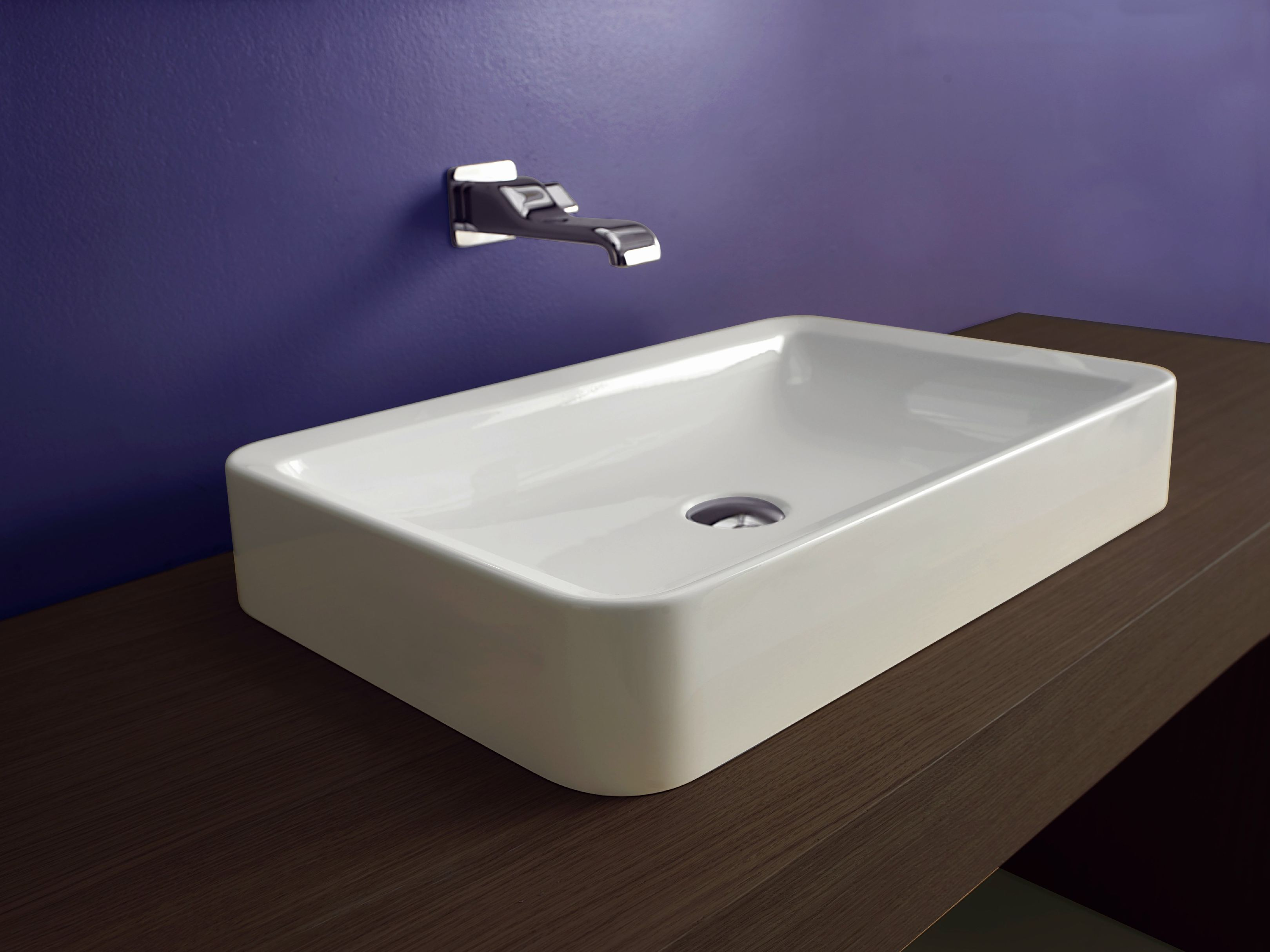 nile lavabo rectangulaire by ceramica flaminia design patrick norguet. Black Bedroom Furniture Sets. Home Design Ideas