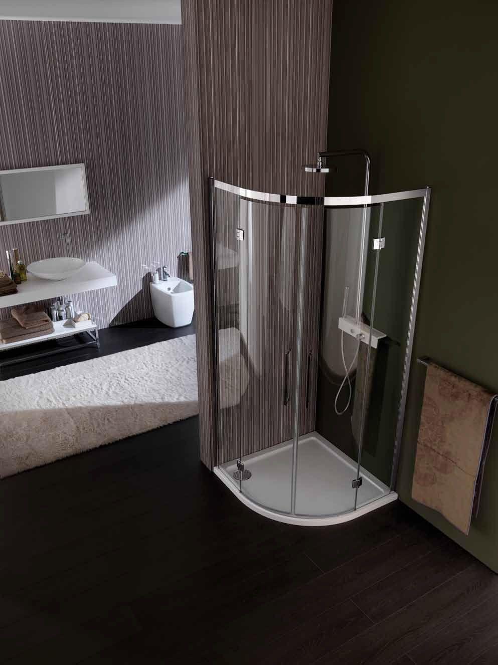 Vis box doccia semicircolare by samo - Box doccia in vetro prezzi ...