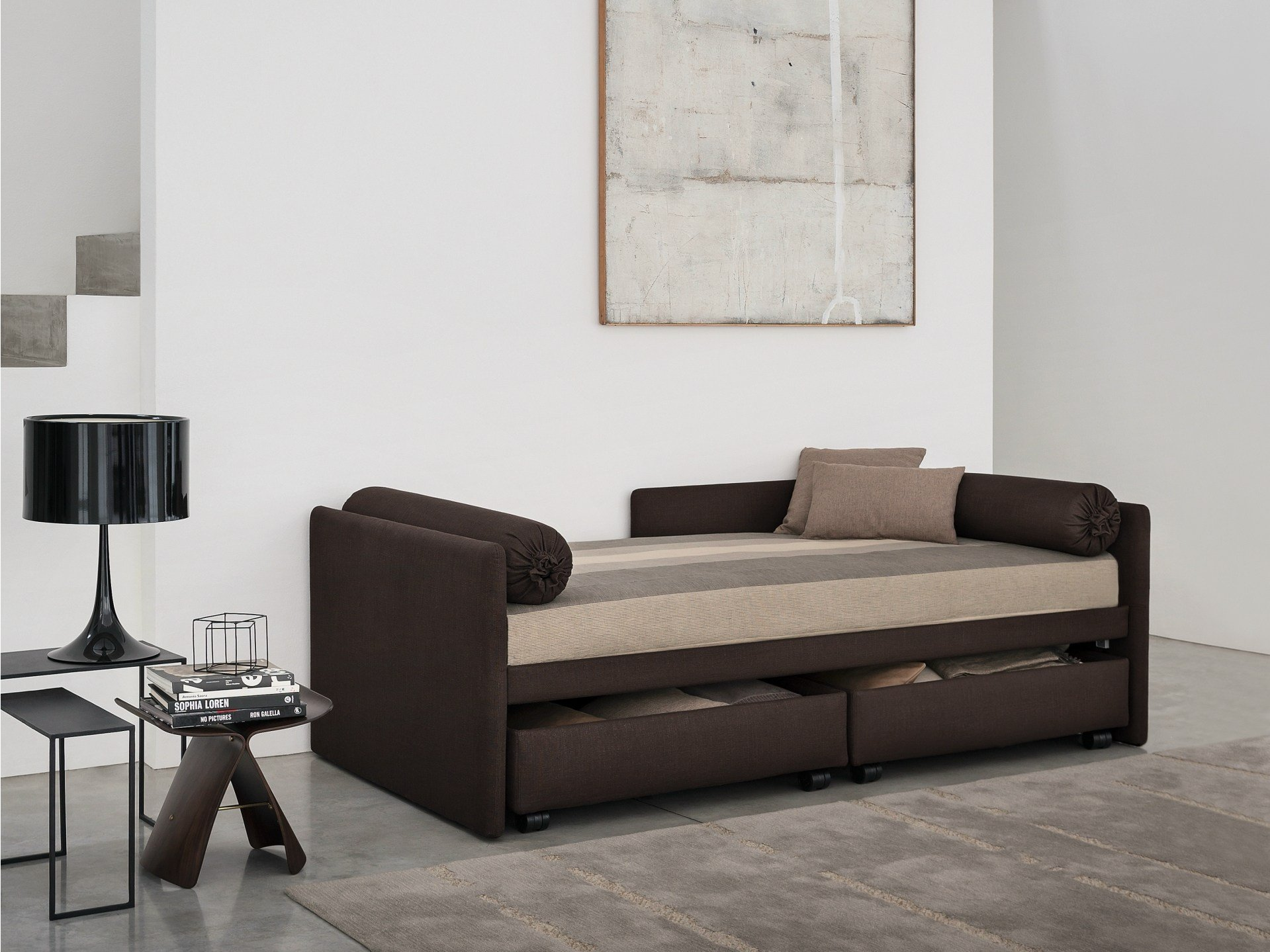 Superb Fabric Bed Day Bed Duetto By Flou Part 4